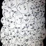 viele gesichter sketch web