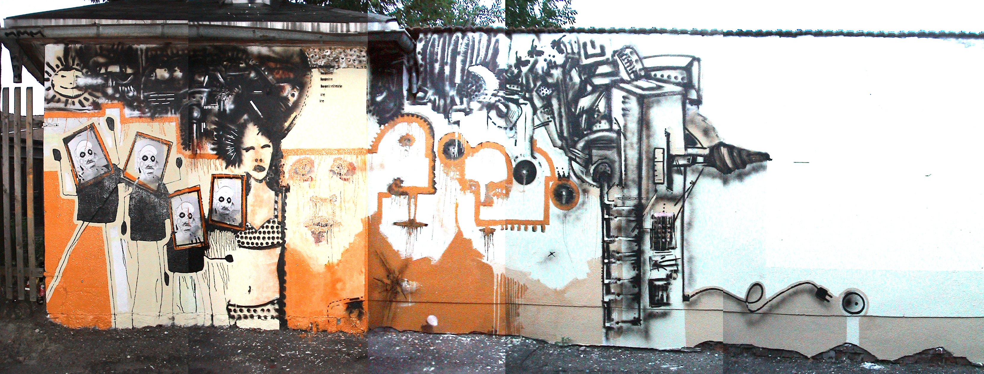 Just a freaky Wall / Graffiti 2002