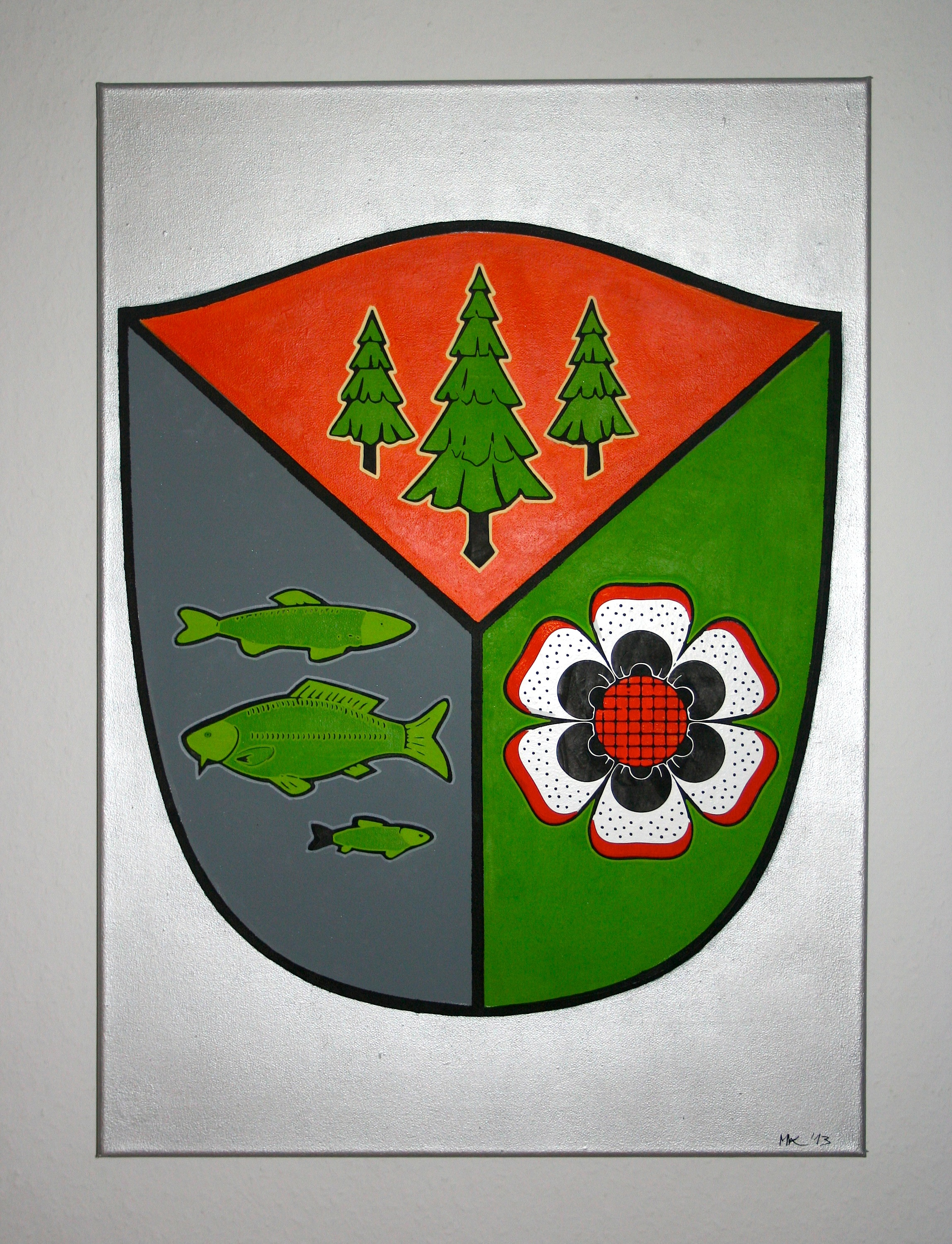 City coat of Arms Painting