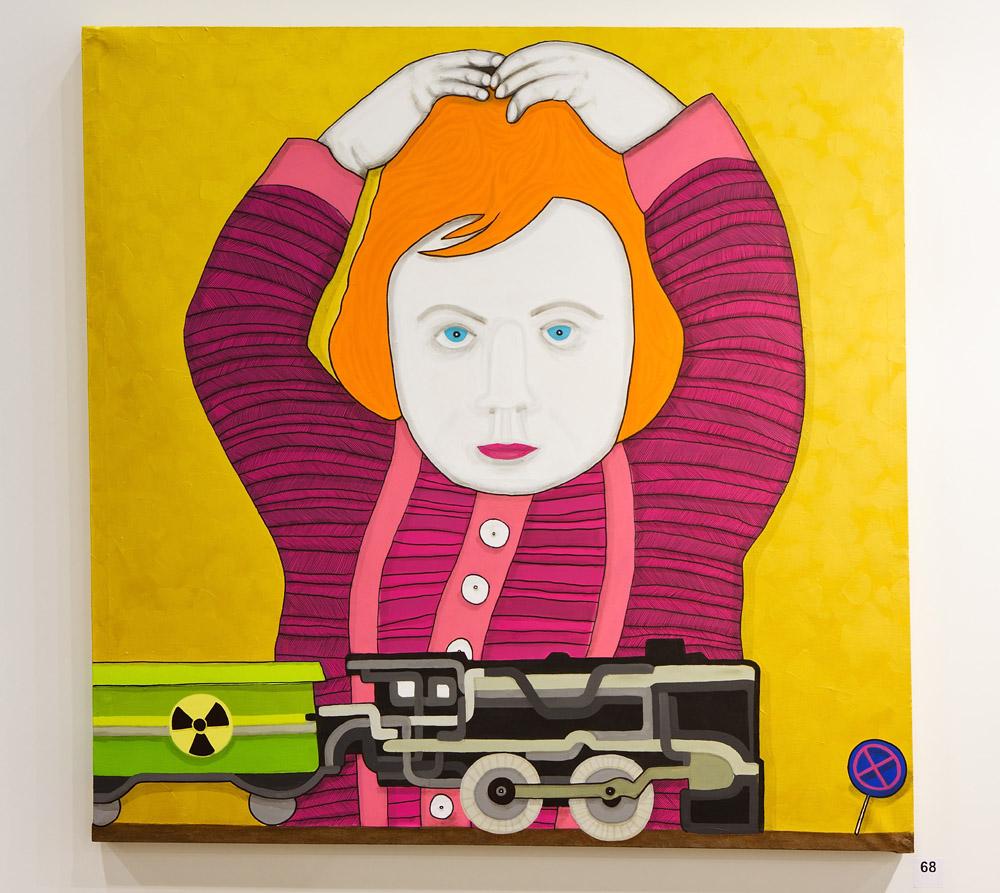 HALLENKUNST Happy Childhood Painting