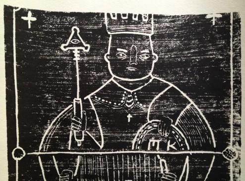 Lino Print Detail 2