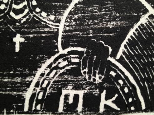 Lino Print Detail 4
