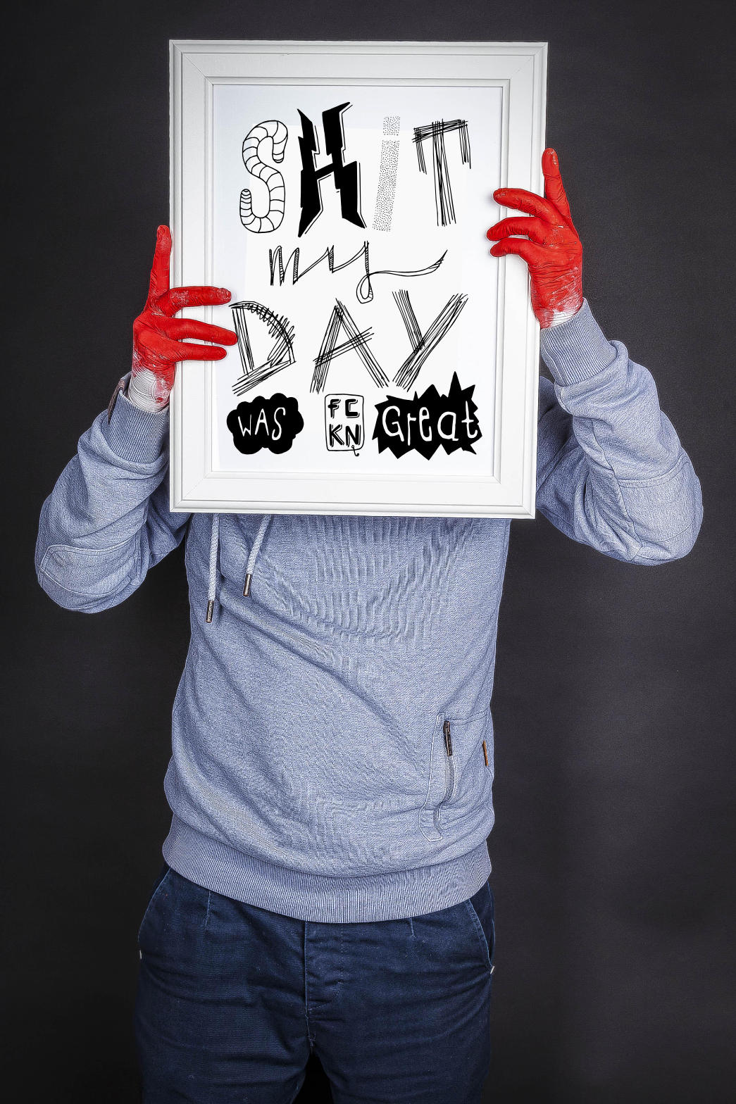 shit my day was fkn grat typo poster web